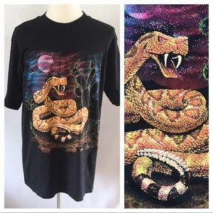 80's rattlesnake graphic t shirt by Hazelwood